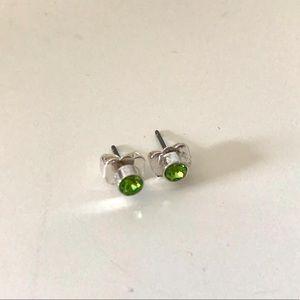 5/$10 Green Diamond Stud Earrings